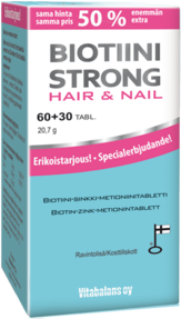 Biotiini Strong hair&nail, 60+30kpl