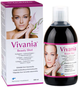 Vivania Beauty Shot, Persikka 500ml