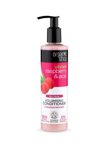 Organic Shop Raspberry & Acai hoitoaine 280 ml