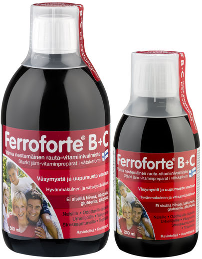 Ferroforte® rauta, B + C 500ml